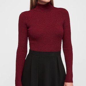 Burgundy Turtleneck Sweater